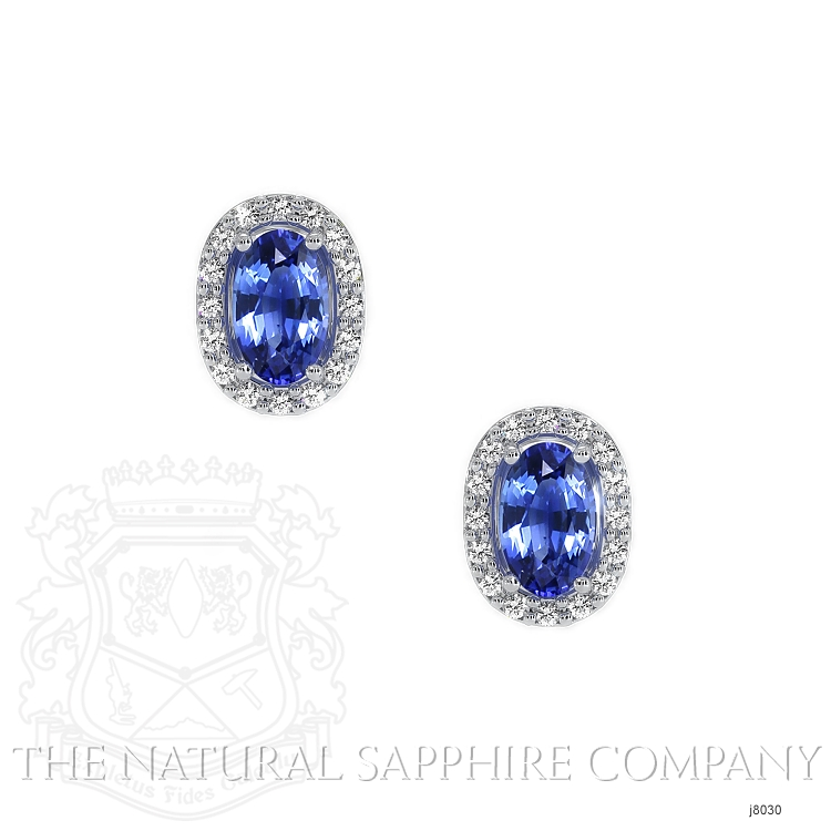 0.55ct Blue Sapphire Earring Image