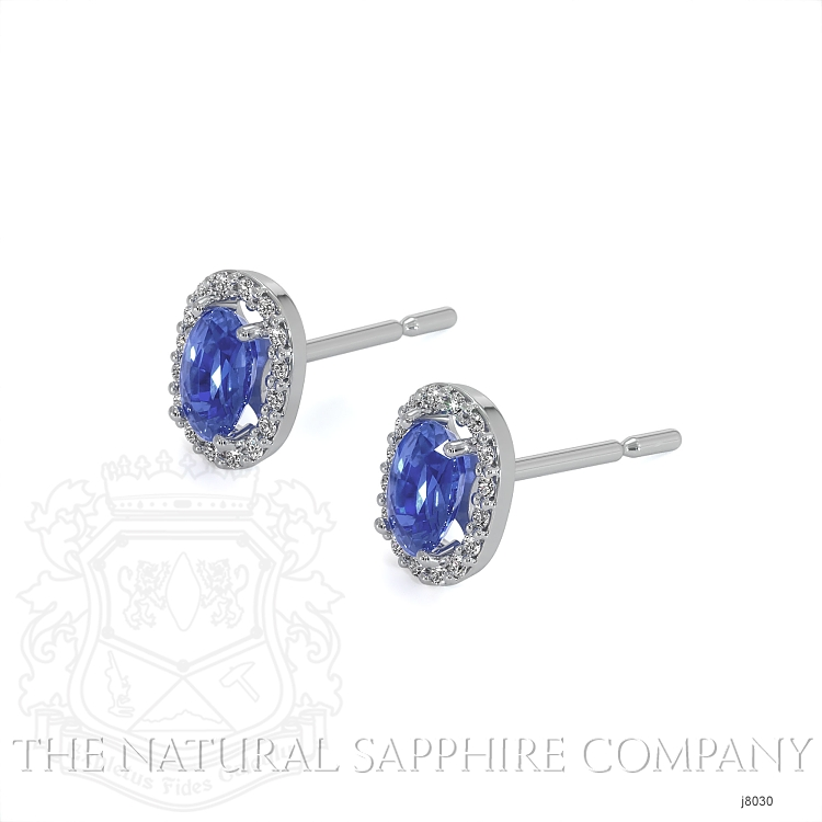0.55ct Blue Sapphire Earring Image 3
