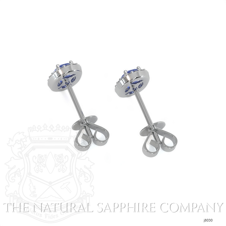 0.55ct Blue Sapphire Earring Image 4