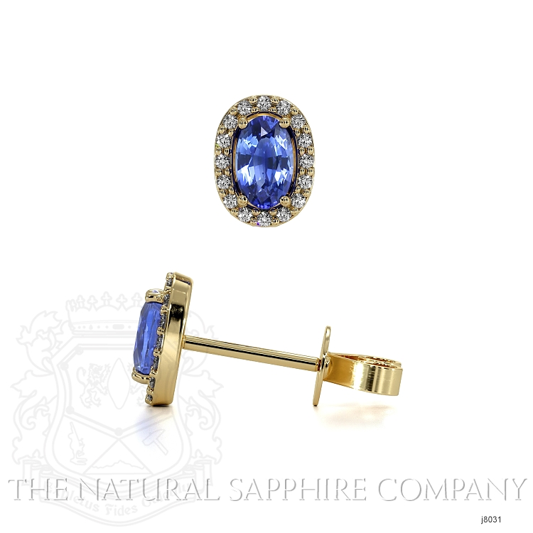 0.55ct Blue Sapphire Earring Image 2