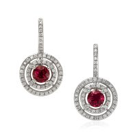 1.21ct Ruby Earring - J8048