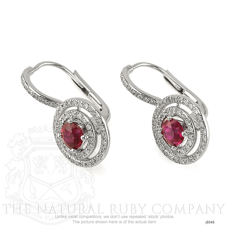 1.21ct Ruby Earring Image 3