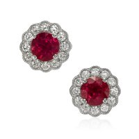 1.89ct Ruby Earring - J8049