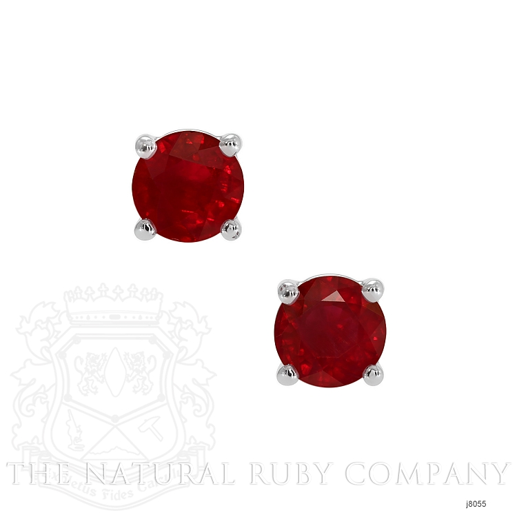 0.70ct Ruby Earring Image