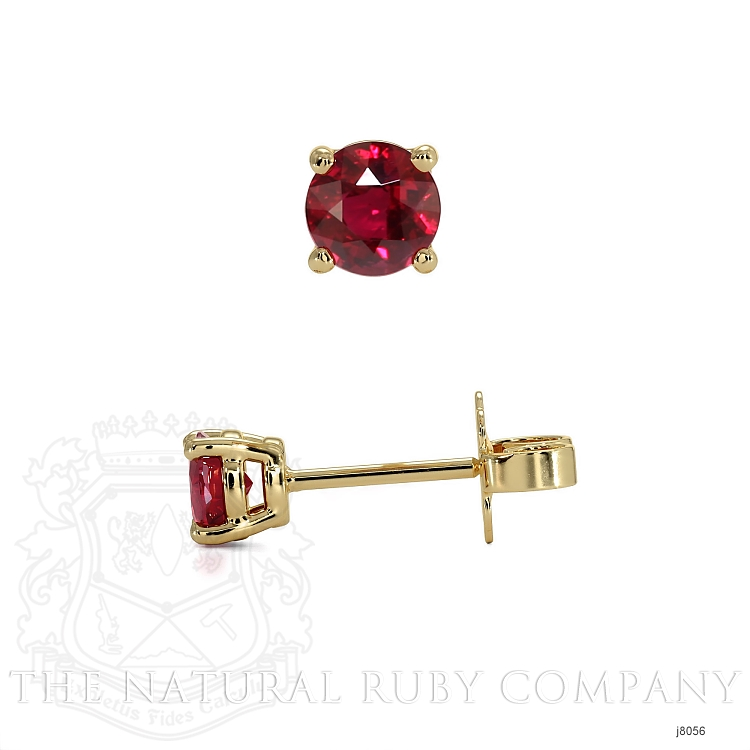 0.70ct Ruby Earring Image 2
