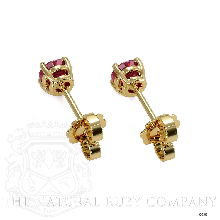 0.70ct Ruby Earring Image 4
