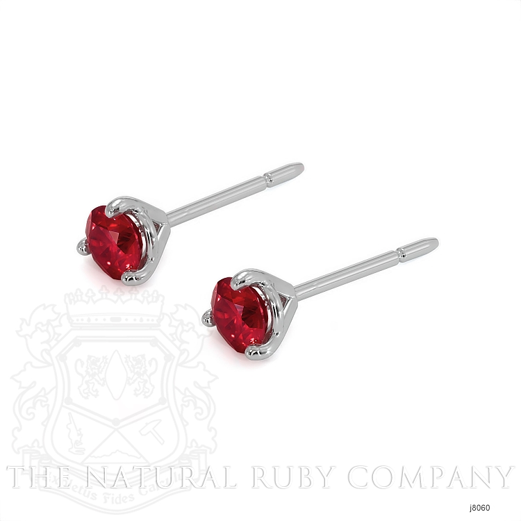 0.70ct Ruby Earring Image 3