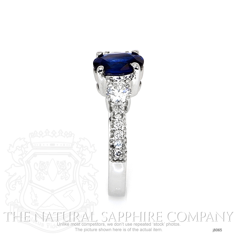 1.23ct Blue Sapphire Ring Image 3