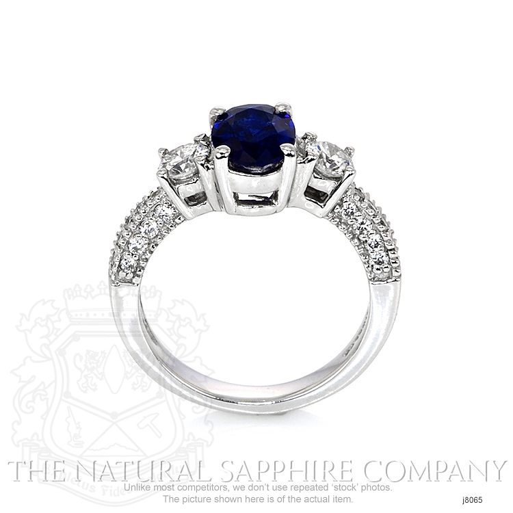 1.23ct Blue Sapphire Ring Image 4