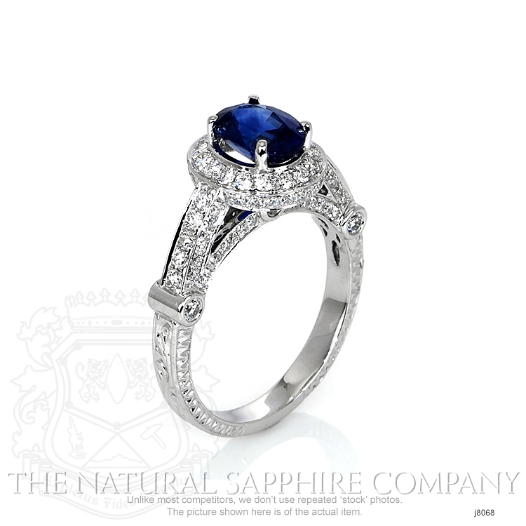 1.54ct Blue Sapphire Ring Image 2