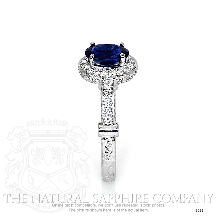 1.54ct Blue Sapphire Ring Image 3