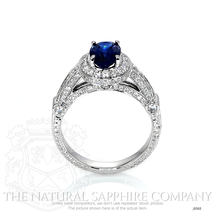 1.54ct Blue Sapphire Ring Image 4