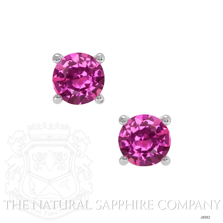 0.80ct Pink Sapphire Earring Image