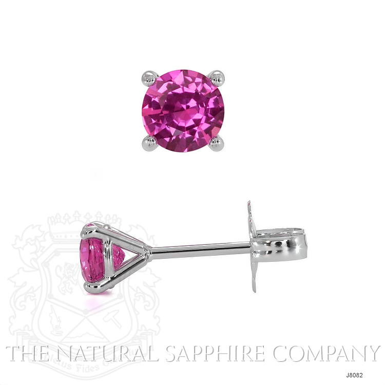 0.80ct Pink Sapphire Earring Image 2