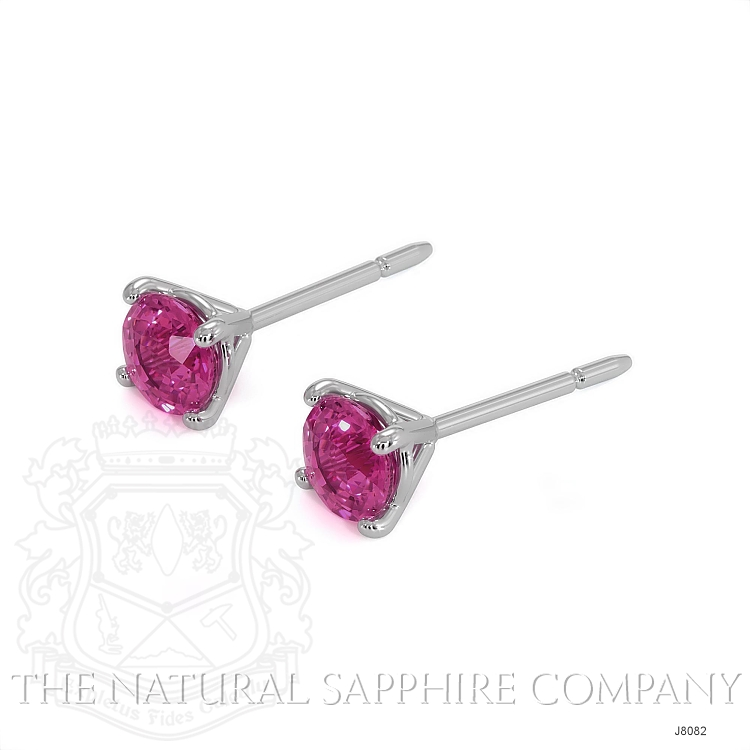 0.80ct Pink Sapphire Earring Image 3
