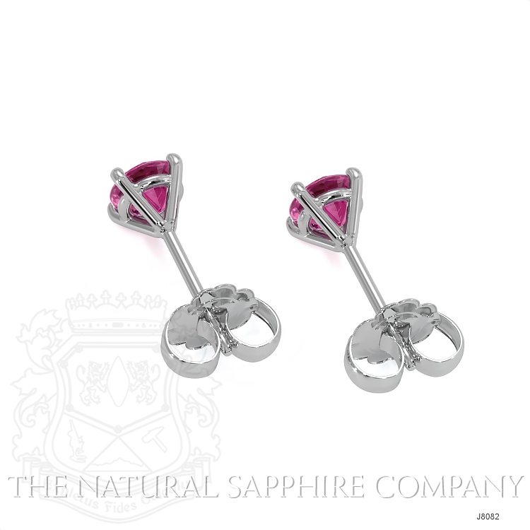 0.80ct Pink Sapphire Earring Image 4