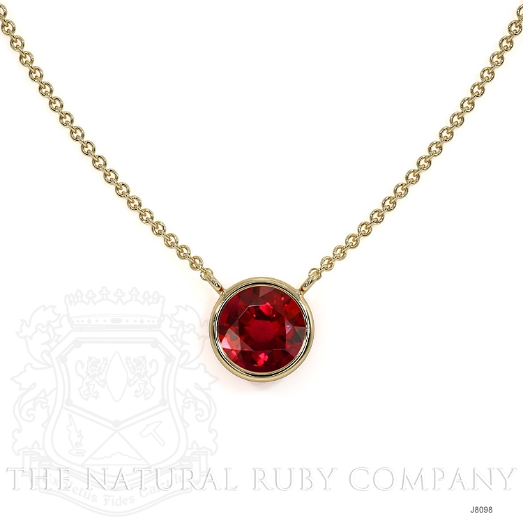0.45ct Ruby Necklace Image 2