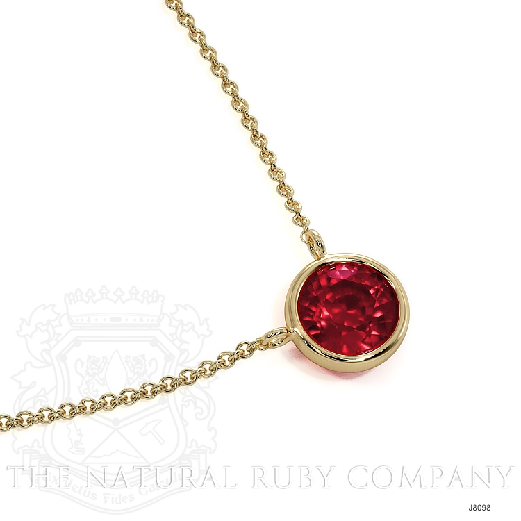 0.45ct Ruby Necklace Image 3