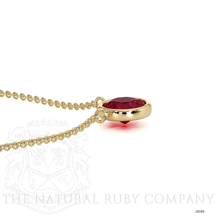 0.45ct Ruby Necklace Image 4