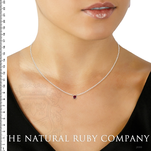 0.45ct Ruby Necklace Image 5