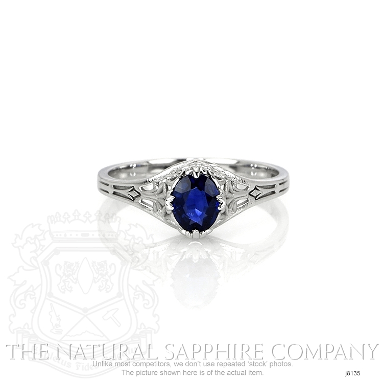 0.55ct Blue Sapphire Ring Image