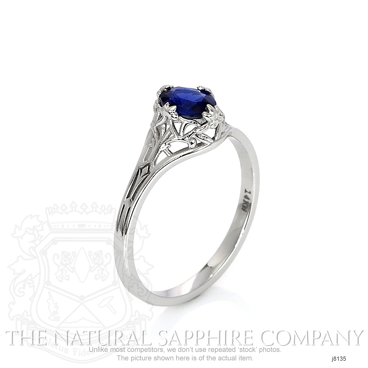 0.55ct Blue Sapphire Ring Image 2
