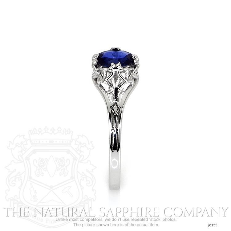 0.55ct Blue Sapphire Ring Image 3