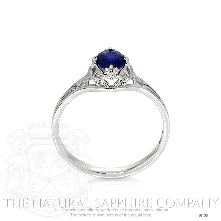 0.55ct Blue Sapphire Ring Image 4