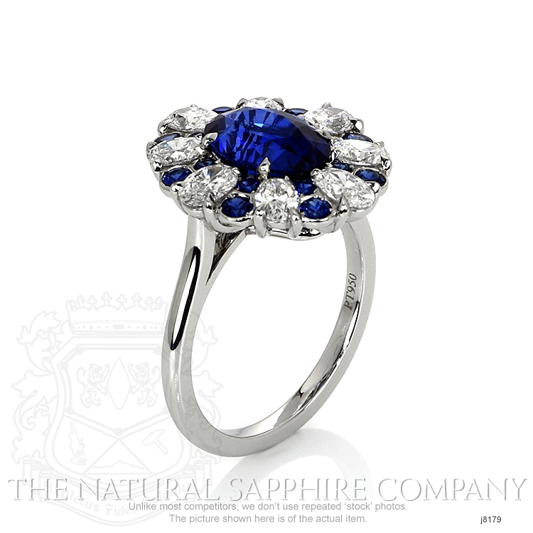 3.11ct Blue Sapphire Ring Image 2