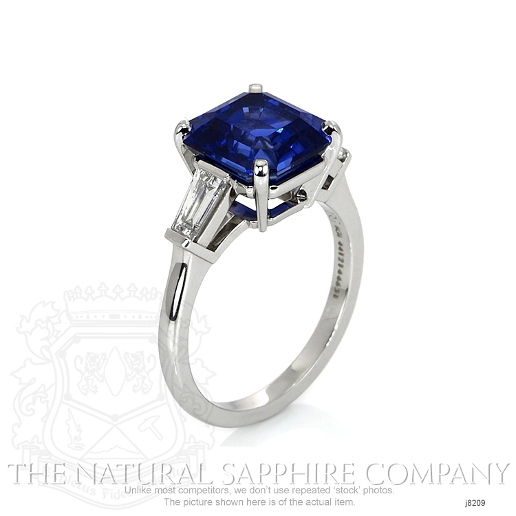 6.16ct Blue Sapphire Ring Image 2