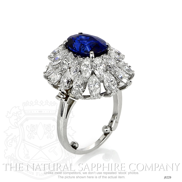4.26ct Blue Sapphire Ring Image 2