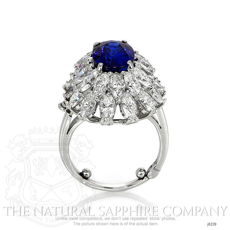 4.26ct Blue Sapphire Ring Image 4