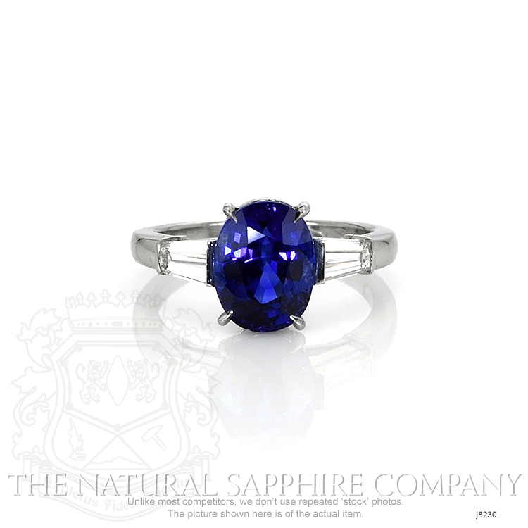 3.41ct Blue Sapphire Ring Image