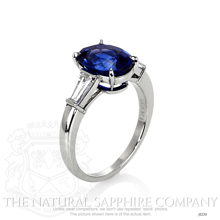 3.41ct Blue Sapphire Ring Image 2