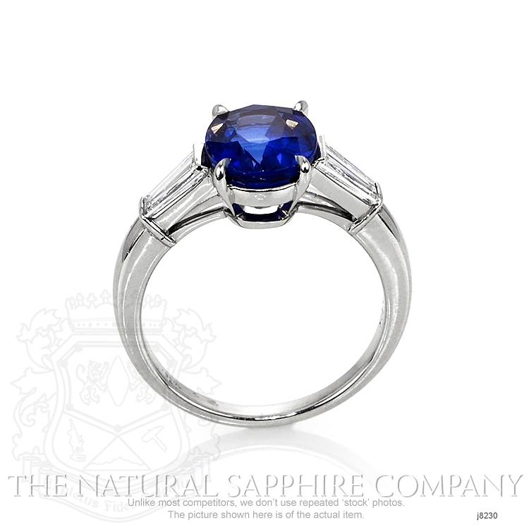 3.41ct Blue Sapphire Ring Image 4