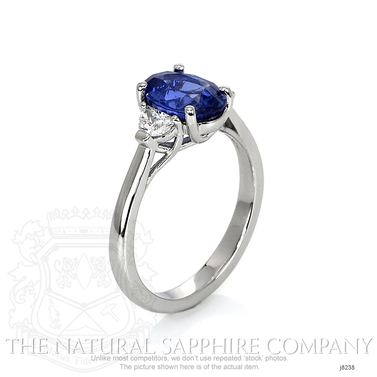2.02ct Blue Sapphire Ring Image 2