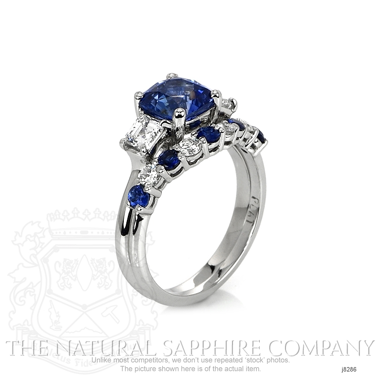 2.28ct Blue Sapphire Ring Image 2