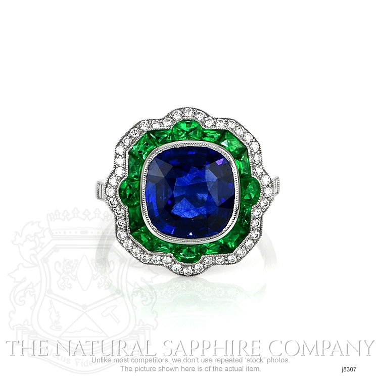 4.09ct Blue Sapphire Ring Image