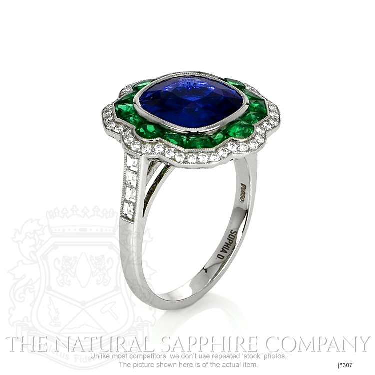 4.09ct Blue Sapphire Ring Image 2