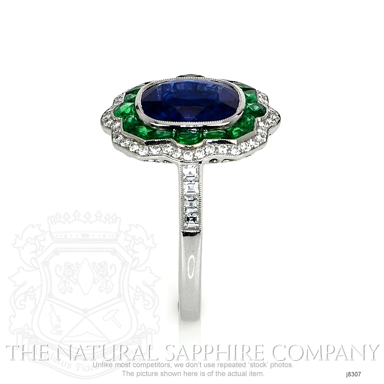 4.09ct Blue Sapphire Ring Image 3