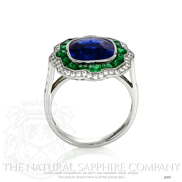 4.09ct Blue Sapphire Ring Image 4