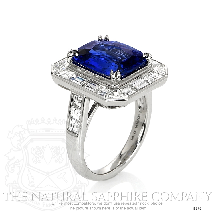 5.93ct Blue Sapphire Ring Image 2