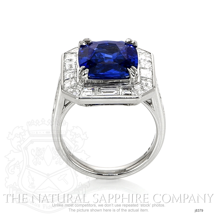 5.93ct Blue Sapphire Ring Image 4