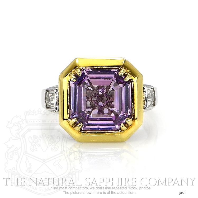 5.00ct Violet Sapphire Ring Image