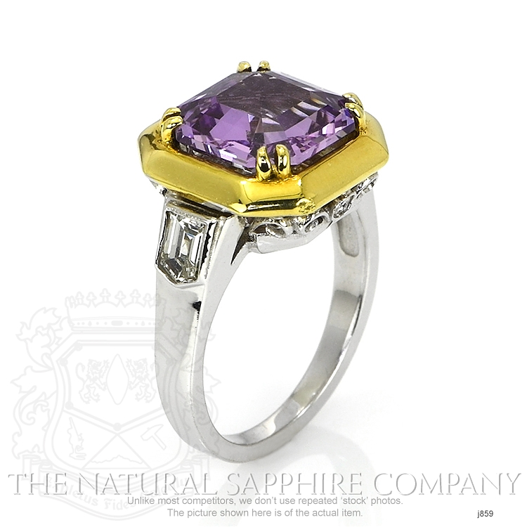 5.00ct Violet Sapphire Ring Image 2