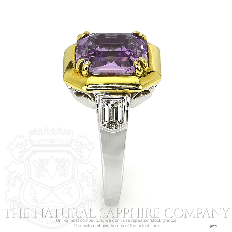 5.00ct Violet Sapphire Ring Image 3