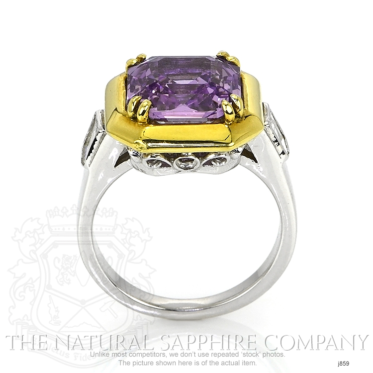 5.00ct Violet Sapphire Ring Image 4