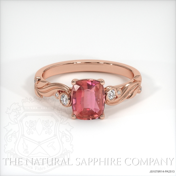 Padparadscha Sapphire Ring Cushion 1 42 Ct 14k Rose Gold,Modern White Kitchen Cabinets With Grey Countertops