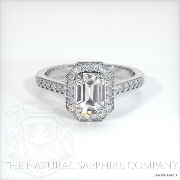 White Sapphire Unique Engagement Ring