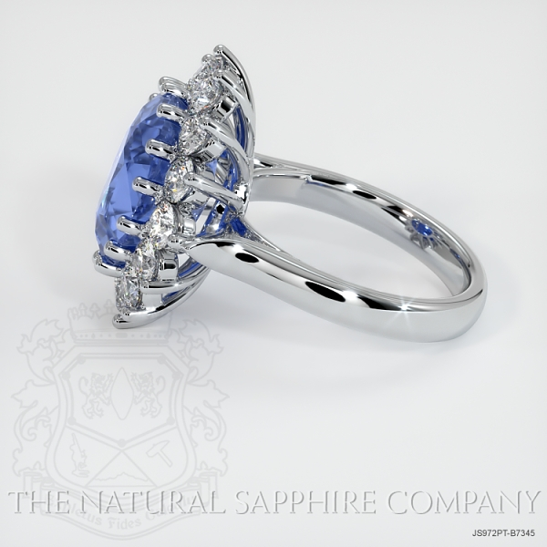 Details about  /4.83 ct Platinum Plated 925 Sterling Silver Ring Natural Cushion Sapphire